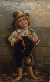 Oil Painting of Young Boy