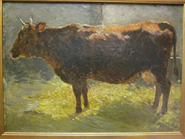 Cow Oil Painting