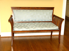 Mahogany Inlaid Loveseat