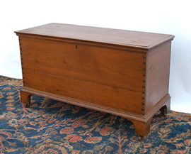 Early Walnut Dovetailed Blanket Chest