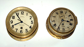 Brass Ship's Clocks