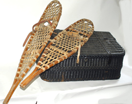 Old Snow Shoes & Basket