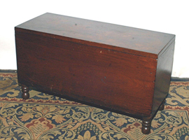 Small Early Walnut Sugar Chest