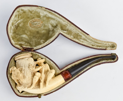 Large Carved Meerschaum Pipe