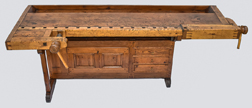 Outstanding Early Dovetailed Work Bench