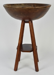 Early Wooden Bowl on Stand