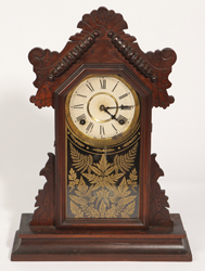 Ingraham Walnut Kitchen Mantle Clock