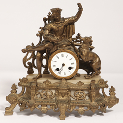 French Figural Clock By M. Franjus