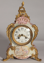 Jappy Freres French Porcelain Mantle Clock