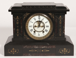 Seth Thomas Black Slate & Marble Clock