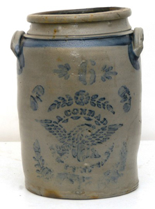 A. Conrad Eagle 6 Gallon Stoneware Jar