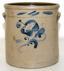 Blue Decorated Stoneware Jar
