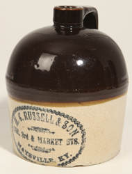 M. C. Russell, Maysville, KY Stoneware Jug