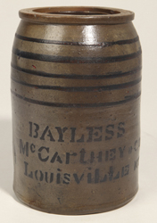 Unusual McCarthy, Louisville, KY Canning Jar