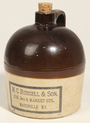 C. M. Russell & Sons, Maysville, KY Stoneware Jug