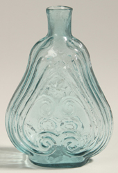 Earlhy Aqua Scroll Flask