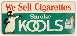 Early 1960's Kool Cigarettes Tin Sign