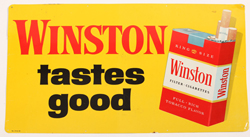 Early 1960's Tin Winston Cigarette Sign