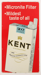 1950's Kent Cigarettes Tin Sign