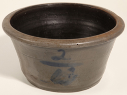 Blue Decorated Stoneware Bowl