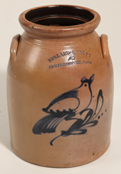 Ballard & Scott, Cambridgeport, MA Stoneware Jar
