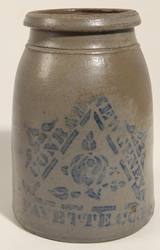 Conrad, New Geneva Stenciled Canning Jar