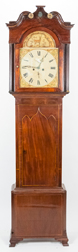 English Inlaid Chippendale Tall Case Clock