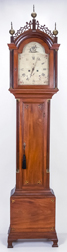 Fine English Chippendale Inlaid Tall Case Clock