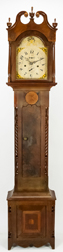 Luman Watson Carved & Inlaid Tall Case Clock