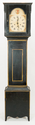 Thomas &  Hoadley, Paint Decorated American Tall Case Clock