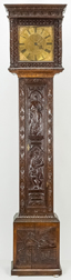 Thomas Stripling Carved Tall Case Clock