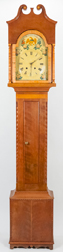 American Cherry & Curly Maple Tall Case Clock