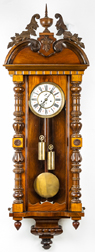 Large Ornate Vienna Regulator Wall Clock