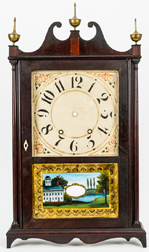 Pillar & Scroll Clock