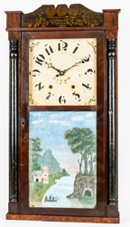 Marsh, Williams & Co. Dayton Ohio Half Column Shelf Clock