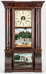 Brige, Peck & Co. Triple Decker Shelf Clock