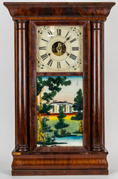 Brige & Fuller Half Column Shelf Clock