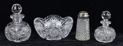 Four Pieces American Cut Glass