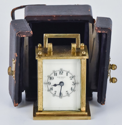 Miniature Cased New Haven Travel Clock