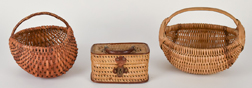 Three Early Small Baskets