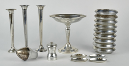 Sterling Tazza, Bud Vases Plus