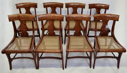 Set 8 Curly Maple Federal Side Chairs