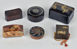 Six Snuff & Other Small Boxes