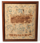 Rare Pittsburgh Mrs. Callan's School Needlework Sampler