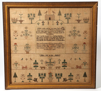 Early American Needlework Sampler by Ellen Bally