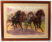 Harness Racing Chromolithograph