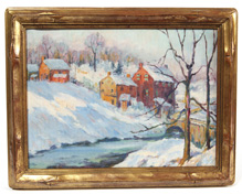 Early 20th Century New Hope School Oil Painting