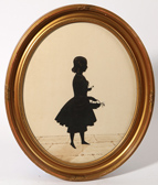 Early Silhouette of A Young Lady