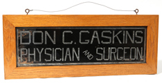 Reverse Painted Doctor's Sign