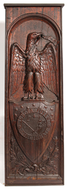 mportant Patriotic Carved Cincinnati Large Wood Plaque